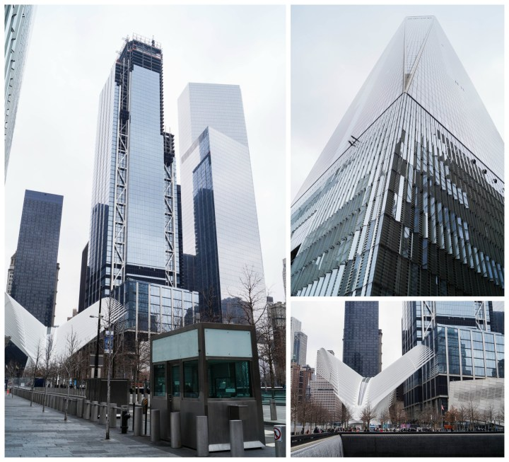 Outside view of the One World Trade Center and 9/11 Memorial & Museum.