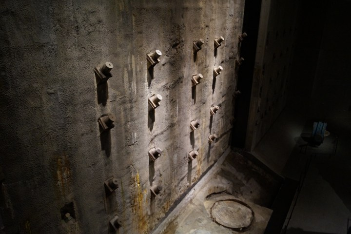 Slurry Wall in Foundation Hall of the 9/11 Memorial & Museum.