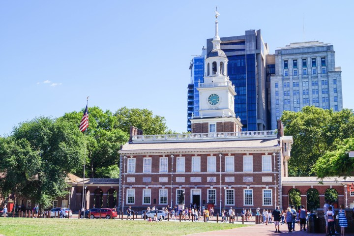 View of outside of Independence Hall.