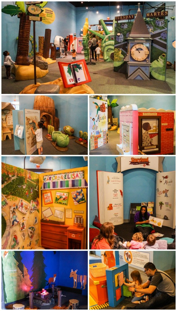 Life-size book activities in the Storyland at Please Touch Museum.
