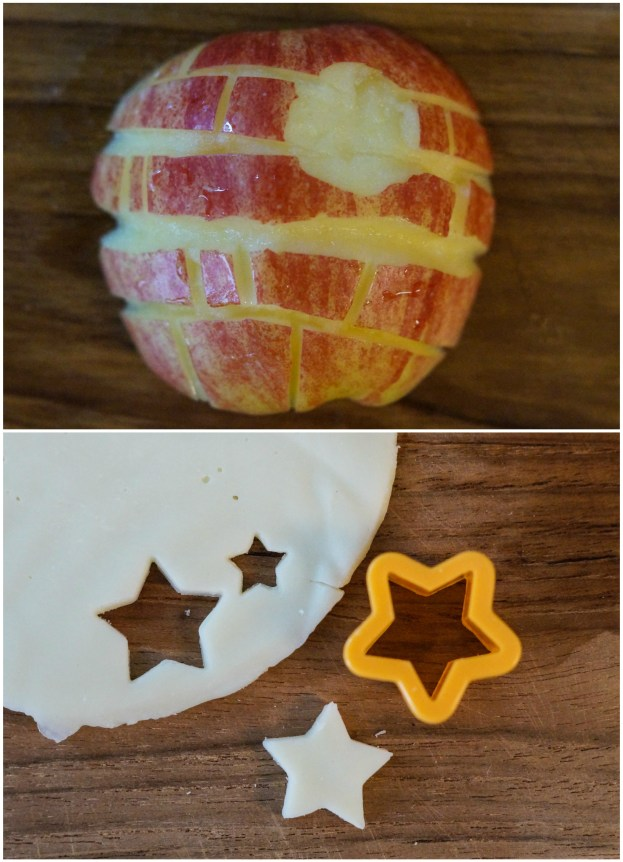 Cutting an apple into the shape of a Death Star.