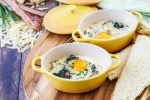 Irish Baked Eggs with Spinach