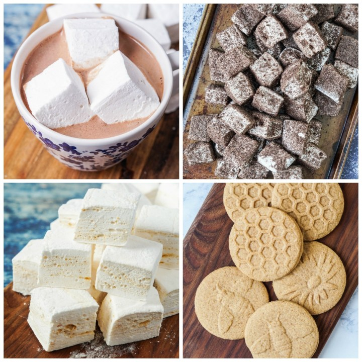 Other recipes from Marshmallow Heaven: Vanilla Bean Marshmallows, Cookies and Cream Marshmallows, Peanut Butter Marshmallows, and Homemade Graham Crackers.