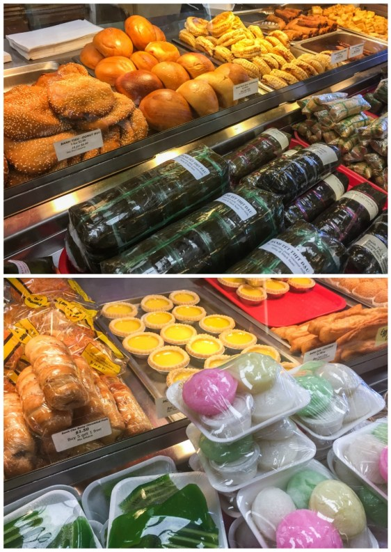 View of pastries on display at Phuoc Loc Bakery & Deli.