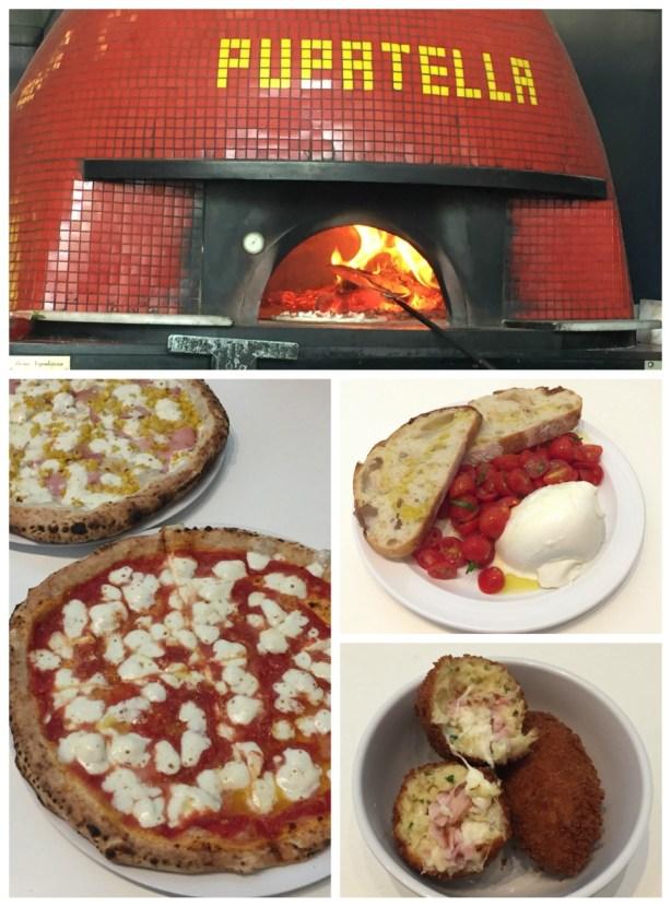Wood burning oven and pizza at Pupatella.