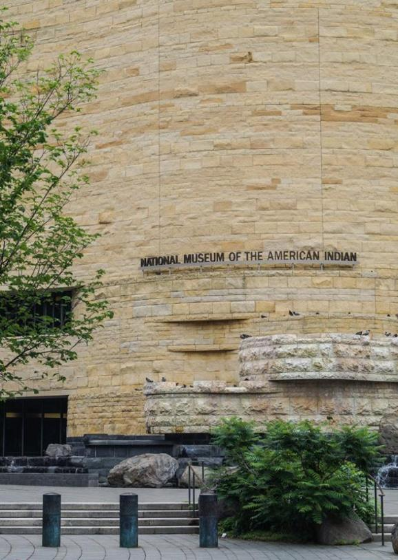 Entrance to National Museum of the American Indian