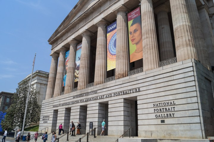 Entrance to the National Portrait Gallery