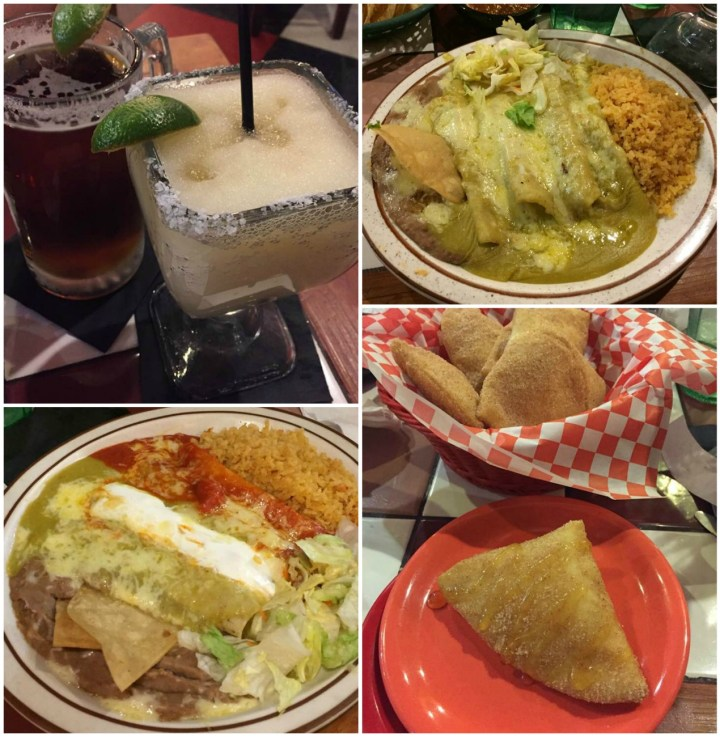 Margarita, enchiladas, and sopapillas from Leo's Mexican Food