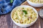 Krautflecken mit Speck (German Cabbage, Noodles and Bacon)