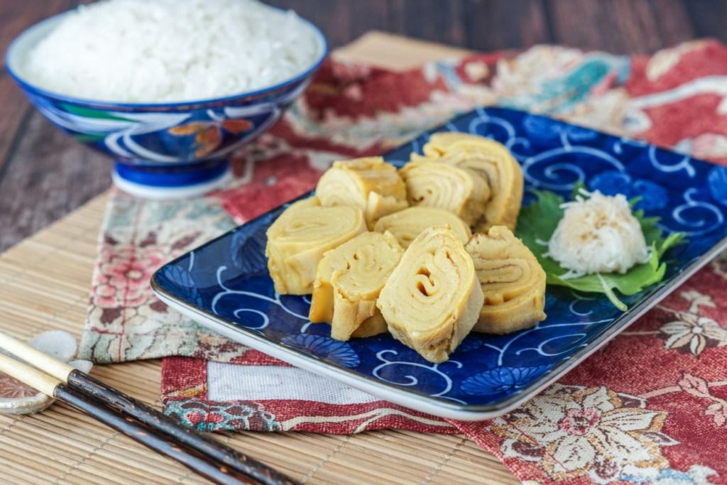 Sliced Dashimaki Tamago (Japanese Omelette Rolls)