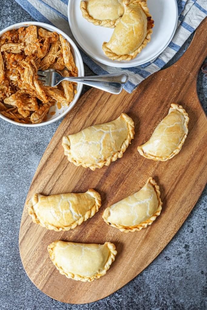 Chicken Empanada Recipe (Empanadas de Pollo) with filling