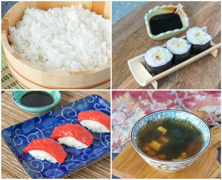 Other recipes from Sushi Master: Sushi Rice, Kappa Maki (Traditional Cucumber Roll), Tuna Nigiri, and Clear Broth with Tofu and Wakame.