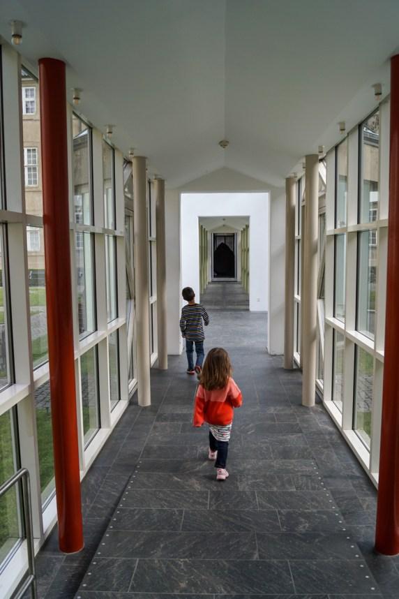 Walking down the hallway in Nationalmuseet