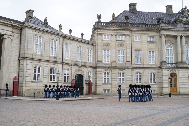 Changing of the guard outside Amalienborg