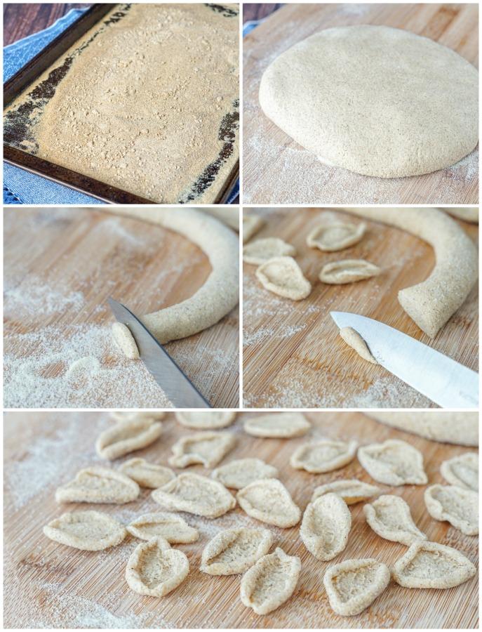 Forming Orecchiette al Grano Arso (Toasted-Flour Orecchiette)