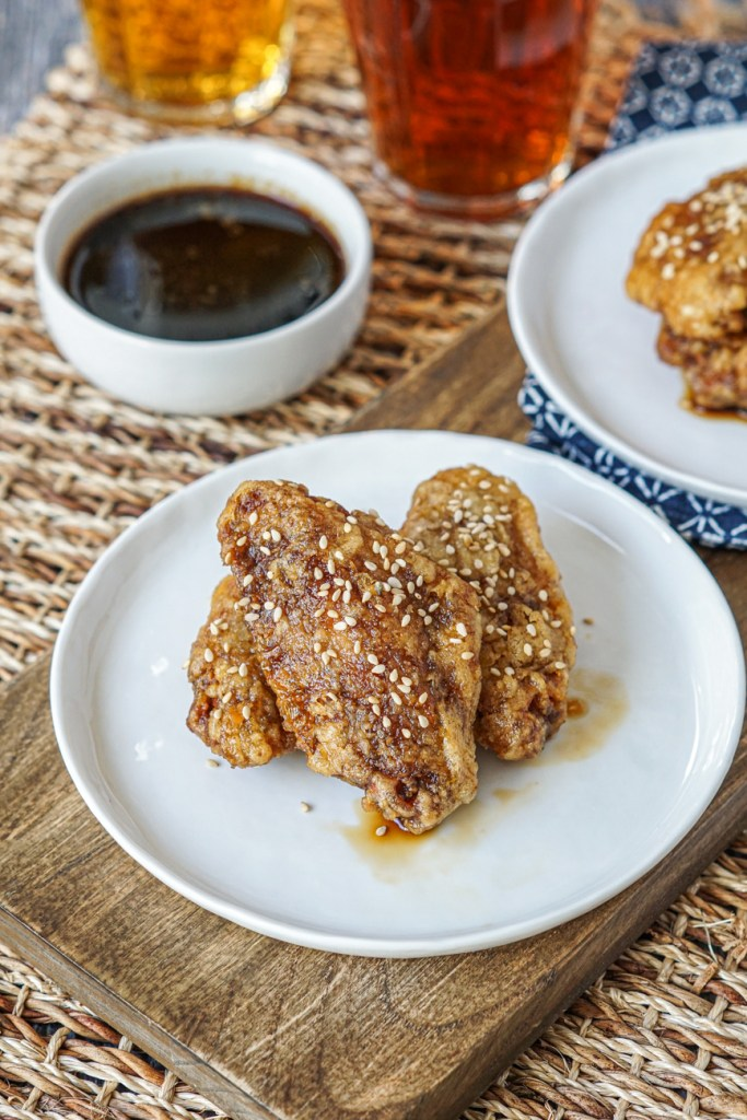 Honey Sesame Chicken Wings on plates