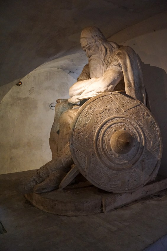 Statue of Holger Danske (Holger the Dane) inside the casemates.