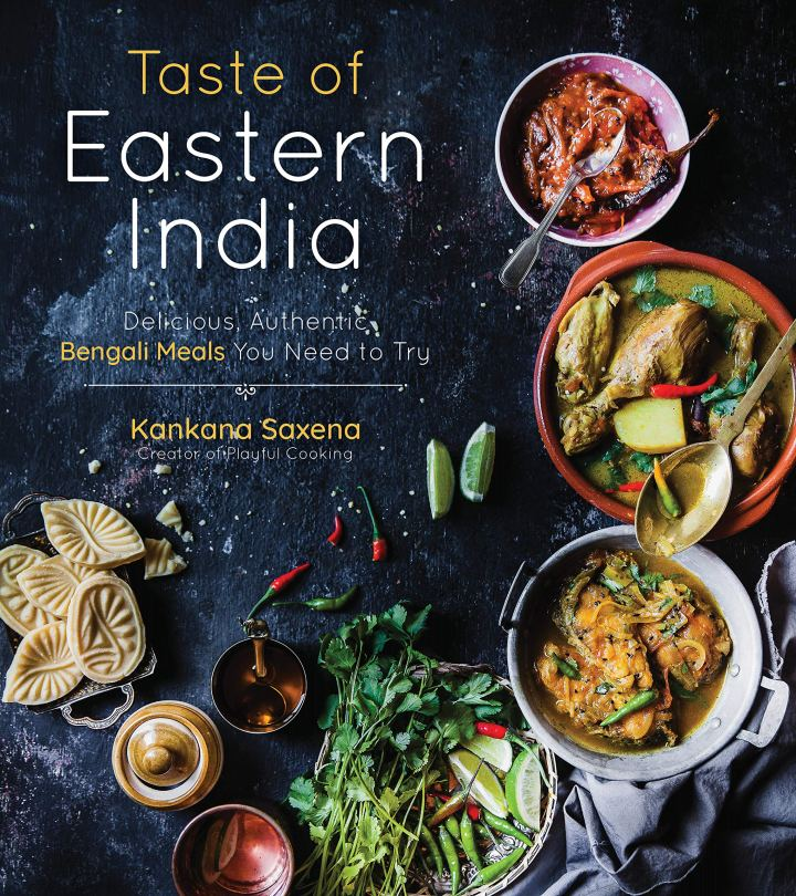 Cookbook cover- Taste of Eastern India: Delicious, Authentic Bengali Meals You Need to Try.