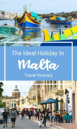 Malta Ideal Travel Itinerary