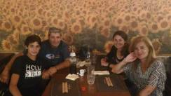 All of us out for dinner at DentroFuori.
