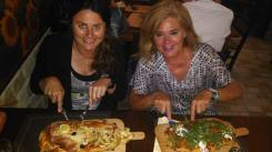 """My first """"pinsa"""" experience with Sandra and her family at DentroFuori."""