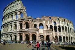 Outside of Roman Colosseum.