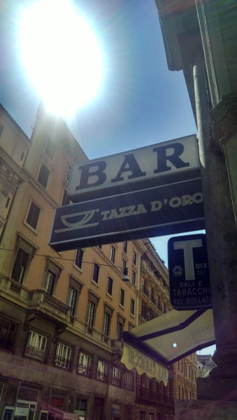Thank you Nathan Sipes for recommending a visit to Tazza D'Oro coffee shop. The cappuccino was delicious!
