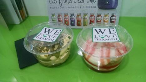 We LOVE Tiramisu! Green=Pistachio Tiramisu. Red=Strawberry Tiramisu.