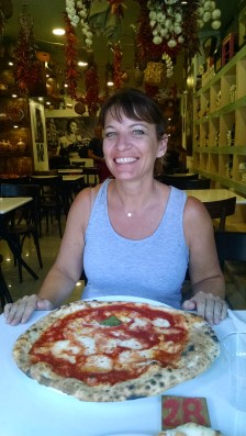 """Naples lunch. Italy's version of a """"personal pan pizza."""""""
