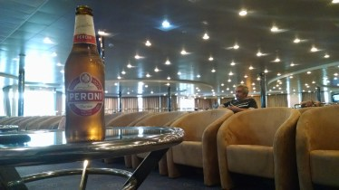 On the ferry to Palermo, Sicily.