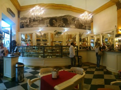Our favorite coffee shop in Palermo, Sicily.