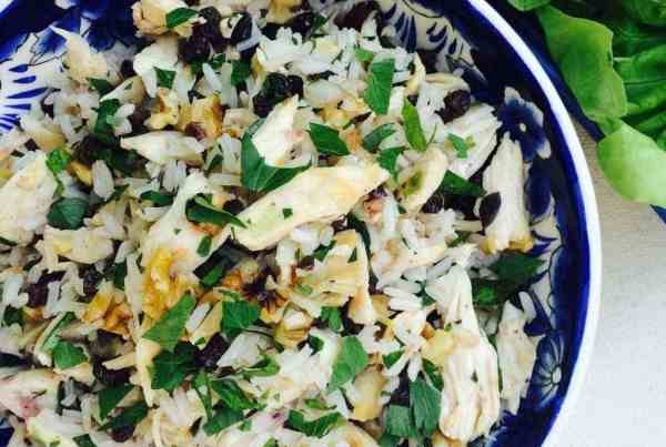 Chicken and Rice Lettuce Wraps round bowl