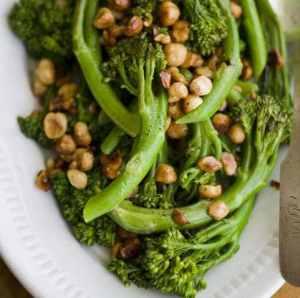 Baby Broccoli with Hazelnut Butter