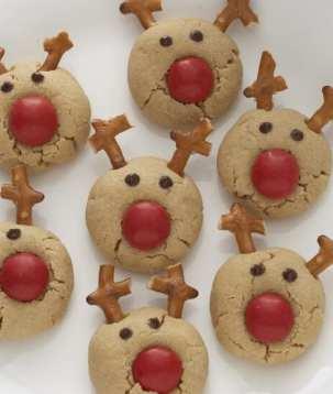 Peanut Butter Rudolph Reindeer Cookies