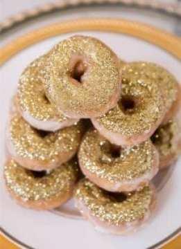 Glittering-gold-donuts