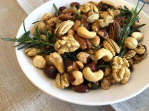 Golden Rosemary Garlic Mixed Nuts