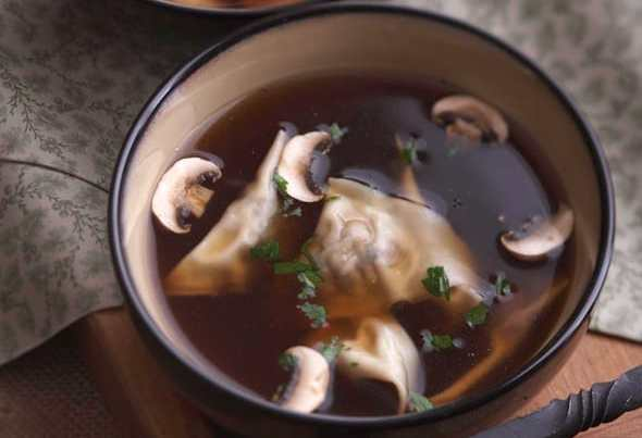 Mushroom Ravioli Soup