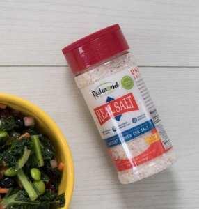 Redmond real salt shaker on table