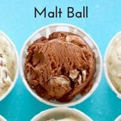 Easy homemade ice cream Malt Ball flavor with a vanilla base. No churn required just use a KitchenAid.