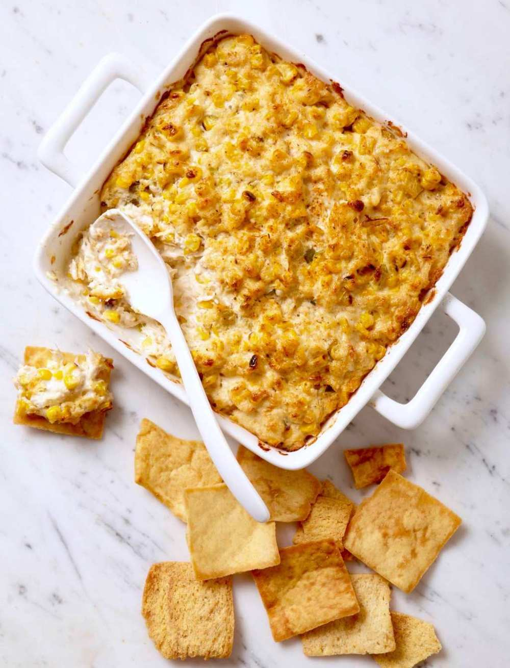 Grilled corn and crab dip