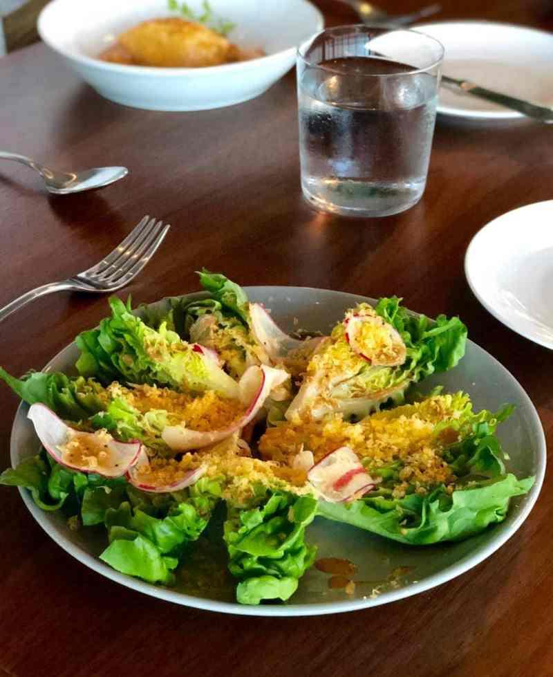 Salad at Manhatta Restaurant