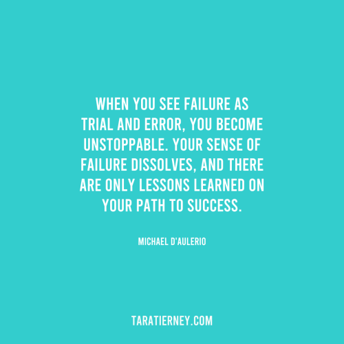 See Failure as Trial and Error