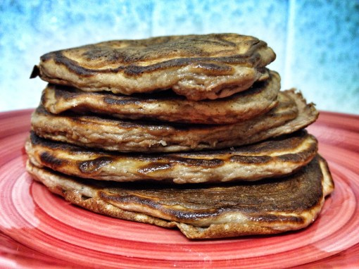 Chocolate Strawberry Protein Pancakes