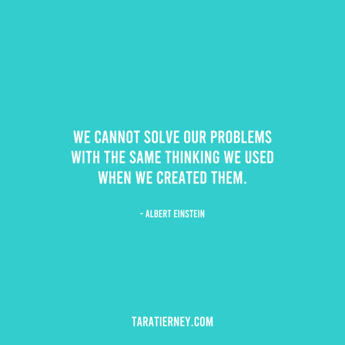 We cannot solve our problems with the same thinking