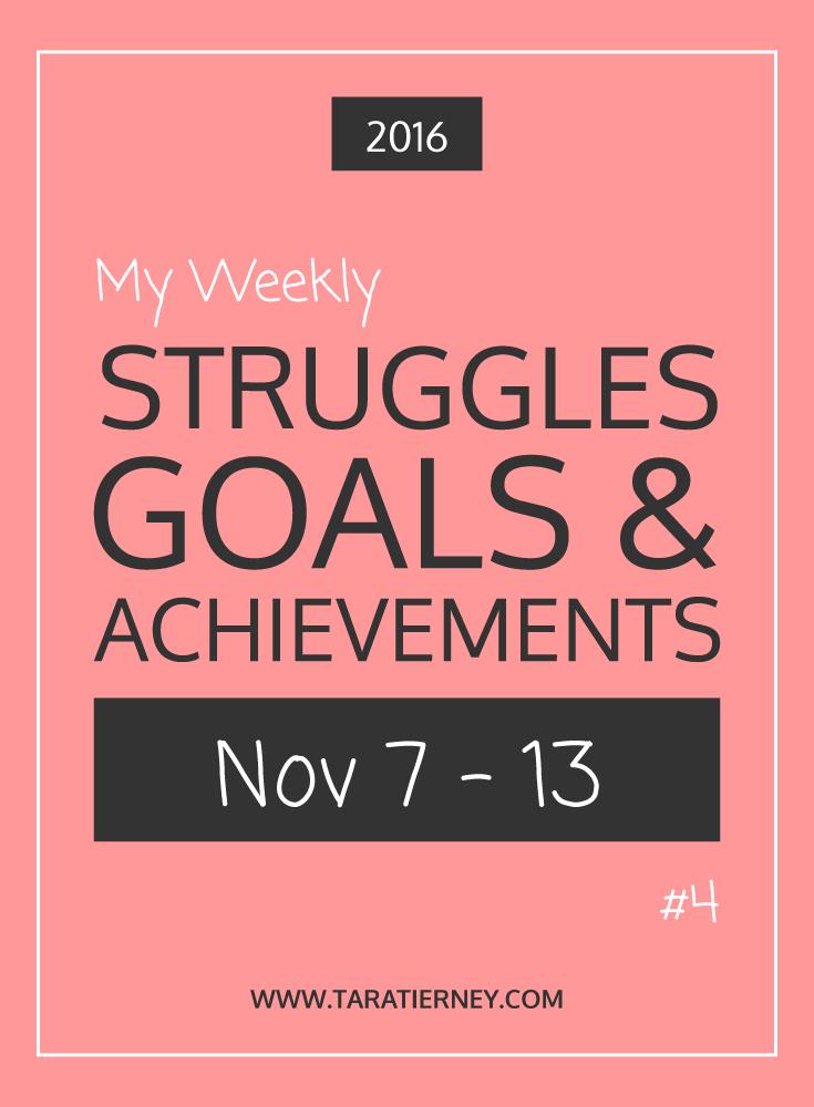Weekly Struggles Goals Achievements PIN 4 | Tara Tierney