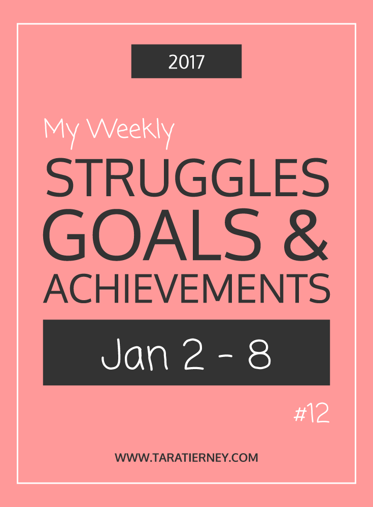 Weekly Struggles Goals Achievements PIN 12 Jan 2 - 8 2017