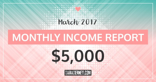 Monthly Blogging Income Report – March 2017