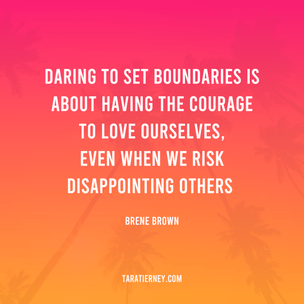 Daring to set boundaries