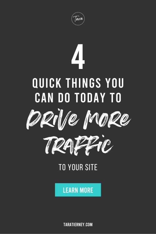 4 Quick Things You Can Do Today to Drive More Traffic to Your Site