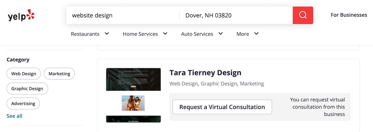 Tara Tierney on Yelp